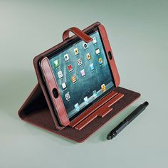 This versatile iPad Mini Case converts into a stand, which makes it ideal for typing or hands-free viewing and videoconferencing. Made in the USA expressly for Levenger.