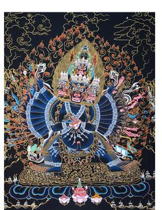 Yamantaka Thangka @ NORBULINGKA.  Art Experience NYC  www.artexperiencenyc.com/social_login/?utm_source=pinterest_medium=pins_content=pinterest_pins_campaign=pinterest_initial