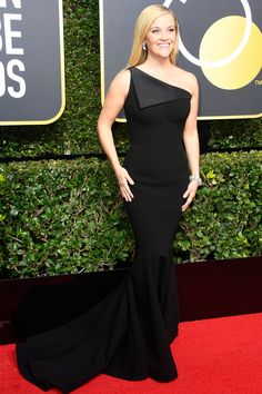 All the Glamorous 2018 Golden Globes Red Carpet Arrivals - Reese Witherspoon from InStyle.com