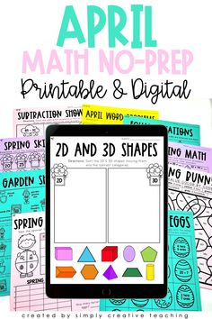 Nothing could be better than Differentiated No-Prep Digital and Printable Spring Math Activities! Check out these ready to go April printables or Google Slides for 1st grade and 2nd grade classrooms! Each page comes in 3 differentiated levels with fun activities such as Spring Spin & Graph, Springtime Riddle, and MUCH MORE! Use for guided math, homework, assessment, or additional practice. Perfect for in-person instruction or digital distance learning. Add to your Springtime lesson plans now!