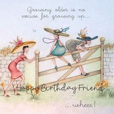 Birthday Ecards for Females - Funny Happy Birthday Funny, Happy Birthday Wishes, Friend Birthday, Birthday Greetings, Birthday Cards, Humor Birthday, Old Lady Humor, Girlfriend Humor, Crazy Friends
