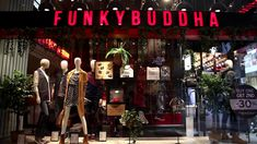 FUNKY BUDDHA stores Store Concept, Fashion Videos, Buddha, Neon Signs
