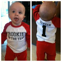 Snyders Tell All: 1st Birthday: Baseball Theme - Beckham Hits a HomeONE