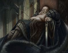 fat king by Christof Grobelski World Of Fantasy, Fantasy Male, Fat Character, Character Ideas, King On Throne, Old King, Pose Reference Photo, Best Water Bottle, King Art