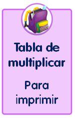 Tabla de multiplicar para descargar e imprimir