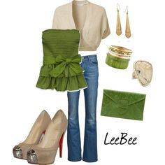 love this outfit and love love the green girly top