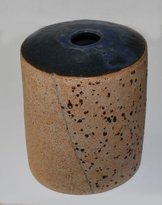 Richard Manz, big vase in stoneware from own studio, Denmark.
