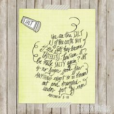INSTANT DOWNLOAD with this purchase: Scripture Printable Matthew by TheMeekBoutique,