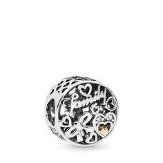 CZ /Famille Charm/ Maman Oxyde de Zirconium /Compatible avec bracelets europ/éens pour charms. Ensemble de c/œur pendantes en argent sterling Perle charm/