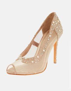 Divina nude bridal shoes peep toe with Swarovski stones Swarovski Stones, Bridal Shoes, Peeps, Peep Toe, Shoes Heels, Nude, Fashion, Bride Shoes Flats, Moda