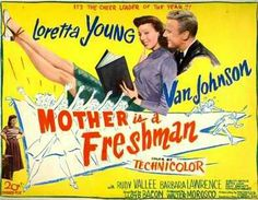 """BEST COSTUME DESIGN-COLOR-NOMINEE: Kay Nelson for """"Mother Is A Freshman""""."""