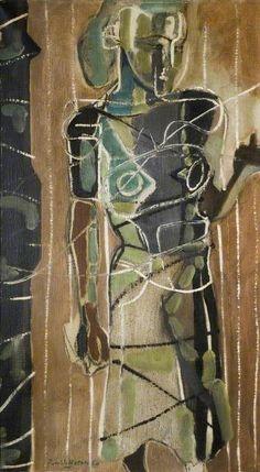 Standing Figure, Rachel: Patrick Heron - seen as part of 'Turning to See' (BM&AG) Portraits, Portrait Art, British Paints, Patrick Heron, Futurism Art, Art Uk, Figure Painting, Figurative Art, Art Images