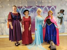 Frozen Angels From the Realms of Glory Christmas Carol Dance How To | Adventures In Dance Arendell ladies with Elasa and Anna