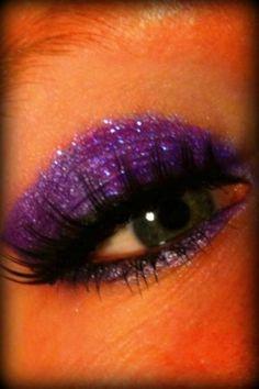 purple prom look