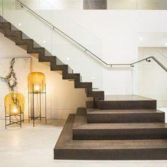 Contemporary Twilight by DKOR Interiors - MyHouseIdea Home Stairs Design, Duplex House Design, Home Building Design, House Front Design, Railing Design, Interior Stairs, Home Room Design, Modern House Design, Kitchen Design