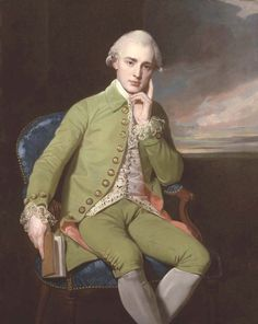 Portrait of a Gentleman, said to be Earl Grey (George Romney - )