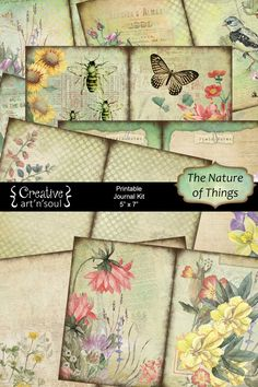 The Nature of Things Printable Journal is perfect for creating a nature-themed journal. I created this printable journal in soft colors and a soft grunge style with elements of nature to inspire you. Grunge Fashion Soft, Grunge Style, Soft Grunge, Junk Journal, Journal Art, Art Journals, Journal Ideas, Bullet Journal, Journal Pages Printable
