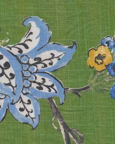 Robert Allen Scandinavian Modern Floral Linen Weave Texture Heavy Weight Cotton Fabric HD507