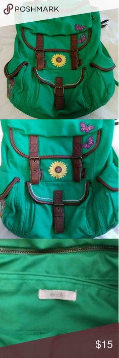 Urban outfitters Ecotè Candy Apple Green Ecotè sac I put some patches on to give it personality, I get many compliments when u do use it. Doesn't get much use cause I have way too many bags lol in excellent condition. Pet Friendly home. Smoke Free home. No trades. Offers welcome. Urban Outfitters Bags Backpacks