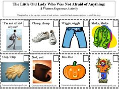Communication Station, Speech Therapy:  Freebie Friday: The Little Old Lady Who Was Not Afraid of Anything-sequencing activity AND fun scarecrow extension activities!!!