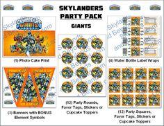 Skylanders Party Supplies INSTANT Download by SkylandsAndBeyond, $17.95