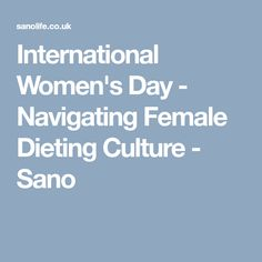 Today marks International Women's Day a global celebration of women's achievements that aims to inspire change and push for women's rights. Ladies Day, Metabolism, Nutrition, Facts, Culture, Diet, Female, Health, Health Care