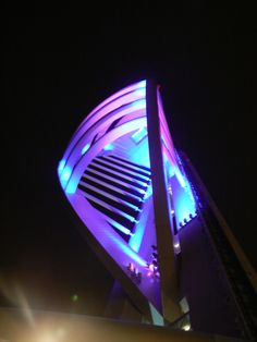 Gunwharf Quays - Night - Spinnaker Tower very nice colors in the dark night