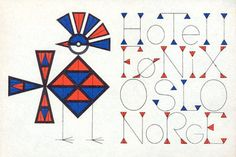 19060's Oslo Norway Hotel Luggage Label /  Art of the Luggage Label, via Flickr
