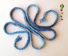 Vapour Trails Chunky Spaghetti Scarf by StripyKite on Etsy, £12.00