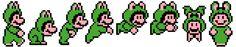 Frog Mario Cross Stitch Bathroom Towel Pattern