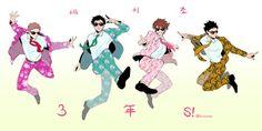 Oikawa, Iwaizumi, Matsukawa, and Hanamaki