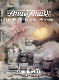 Cacharel Parfums II, 1985 - Anaïs Anaïs.. One of my go to scents of the 80s.