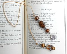 Bronzite Bronze Pearl Citrine Beaded Bookmark by PrettyRockShop, $12.00