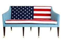 American Flag Sofa