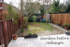 Back garden before redesign Lisa Cox Designs Rose Garden Design, Modern Garden Design, Small Garden Uk, Home And Garden, Outdoor Rooms, Outdoor Decor, Driveway Design, Landscaping Trees, Cottage Renovation