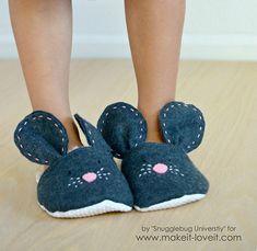 Come fare cartamodello e cucire pantofole bimbi a forma di topolino #tutorial #handmade #sewing #diy