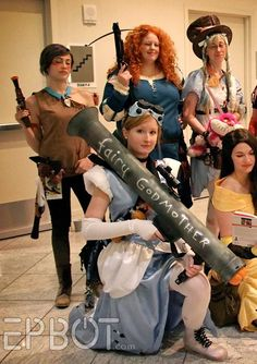 """Battle-ready Cinderella with """"Fairy Godmother"""" bazooka. YES! (The Best Cosplay of Dragon Con 2014, Pt 3)"""