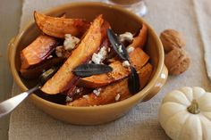 Cider-Glazed Sweet Potatoes With Fried Sage, Garlic and Goat Cheese