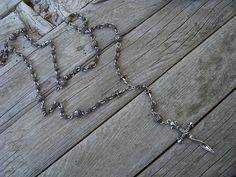 Twisted blade rosary style necklace in sterling silver on Etsy, £350.42