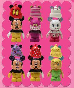 Disney Cupcake Vinylmation Set  #disney #disneycollectables  smallworldbigfun.com