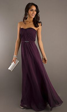 Strapless Evening Prom Gown by Bari Jay