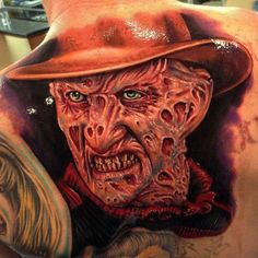 #tattoos.  Freddy looks great, it's just a little scary...my dreams are not safe now.