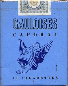 vintage Gauloises Cigarettes packaging by The Magic Faraway Tree, Pub Vintage, Cigarette Brands, Graphisches Design, Marken Logo, Vintage Packaging, Illustrations, Vintage Advertisements, Travel Posters
