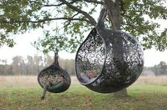 I would love to have this out side!! Like a tier swing but kind of cooler!! You should read in it, hang out in it, swing in it, and who knows what!!!