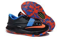 http://www.jordan2u.com/nike-zoom-kd-7-black-blue-orange.html NIKE ZOOM KD 7 BLACK BLUE ORANGE Only $69.00 , Free Shipping!