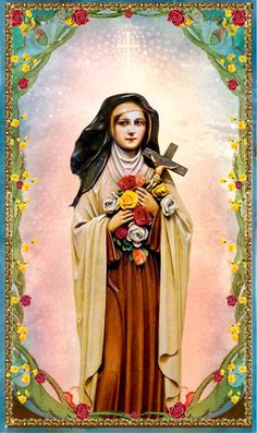 Saint Therese the Little Flower, holy card