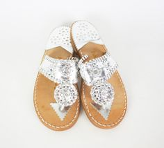 Platinum /Gold Palm Beach Sandals – Living on the Bliss