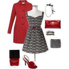red black outfits