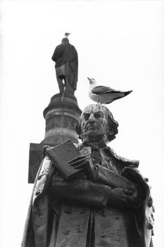 William Gladstone, George Square, photo by Elliot Erwitt. Documentary Photographers, Famous Photographers, Elliott Erwitt, Wars Of The Roses, Magnum Photos, British History, Medium Art, Black And White Photography, Scotland