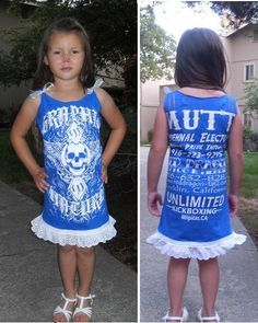 Neat t-shirt upcycle!